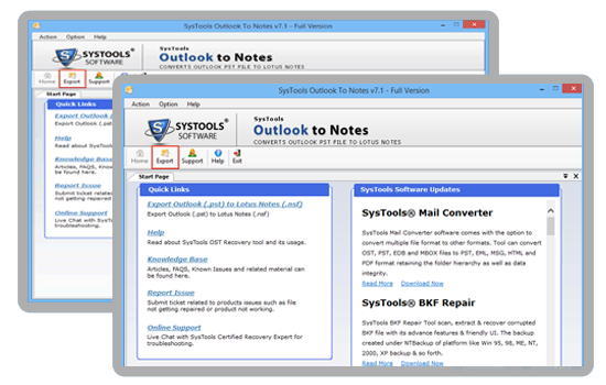 outlook to notes converter